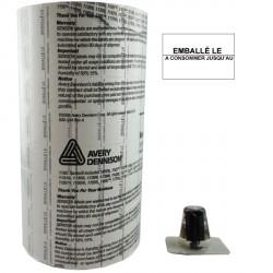 ETIQUETTES 1136 LOT N° / A CONSOMMER JUSQU'AU 20 x 16 mm